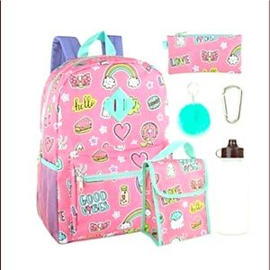 Other - 🎒💗🌈 ☁️⭐️ NWT 6-in-1 Good Vibes Backpack